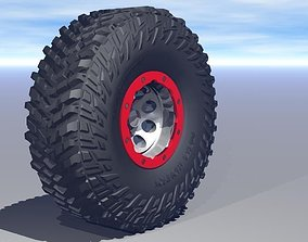 Micky Thompson Baja Claw TTC tire and bead lock 3D asset 1