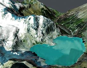 alps 3D Mountain landscape