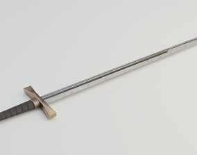 3D model Knights sword 02
