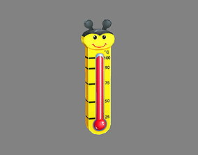 3D asset Cartoon bee shape thermometer