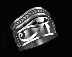 3D print model Ring Eye of Horus Ankh