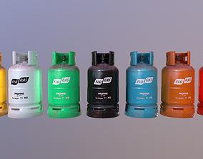 Gas Cylinder Pack 3D asset