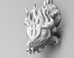 Little dragon head 3D print model