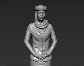 Emirates Airline stewardess 3D printing ready stl obj 1