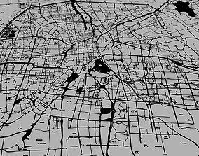 Urban vector city map 3D model