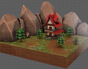 3D model Cartoon ScenesV01