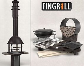 Tundra Gril BBQ - Fingrill barbeque 3D