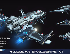PBR Modular Spaceships v1 3D model