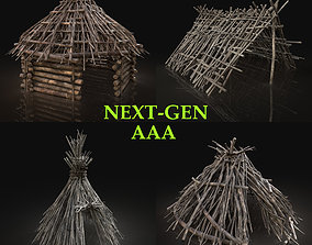3D asset AAA NEXT GEN FOREST WOODS SHELTER PACK COLLECTION