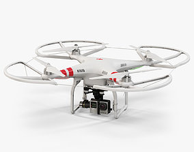 DJI Phantom 2 Quadcopter with Prop Guard and 3D asset 1