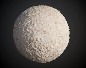Concrete Wall Cracked Rough Damaged Seamless 3D model 1
