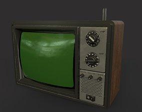 Old TV - PBR Game Ready - 2 texture set normal 3D asset 1