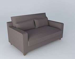 3D model 2 seater sofa set chocolate ST REMY