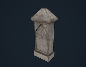 3D asset Tombetone