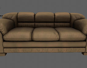 old Armchair 3D model realtime