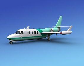 3D model rigged plane IAI Westwind II V