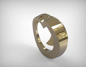 Jewelry Golden Twisted Spiral Pendant 3D print model