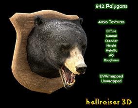 Bear Head - PBR - Textured 3D asset