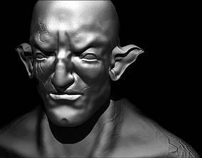 3D creature face sculpt zegon