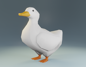 Low Poly Duck 3D Model VR / AR ready
