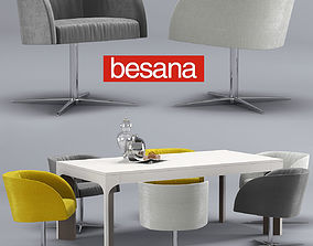 Besana soul-thea table-chair 3D model