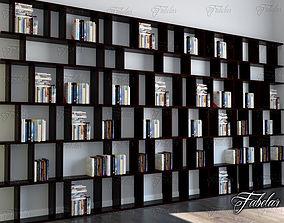 library 3D model Bookshelf