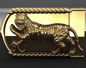 Tiger Belt Buckle 3D printable model