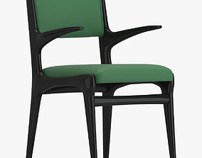 Black And Green Armchair 3D model