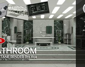 Luxury Bathroom Octane Render 3D model PBR