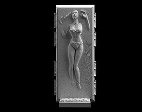 Star Wars Slave Leia in Carbonite STL 3D printable model
