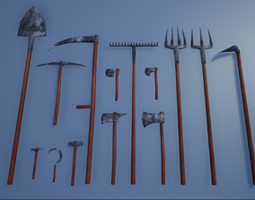 Lowpoly Basic Equipments and Tools 3D model
