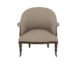 armchair Armchair 3D model detailed design