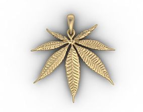 marijuana pendant 3D printable model
