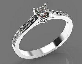 Wedding gold platinum diamond ring 3D printable model