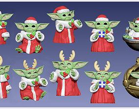 3D print model Baby Yoda - GROGU - Christmas Edition - 2
