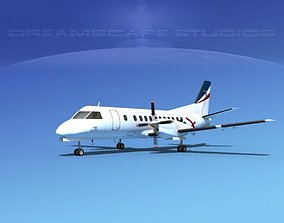 SAAB SF340 Rex Regional Express 3D model