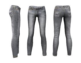 Next Door Girl Skinny Jeans 3D asset
