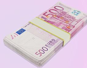 3D asset realtime Euro Bills