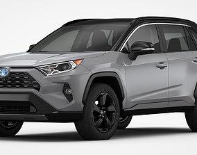 3D Toyota RAV4 Hybrid 2019