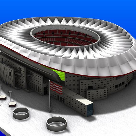 Wanda Metropolitano Stadium 3D Model