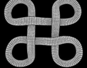 bowen knot 3D model