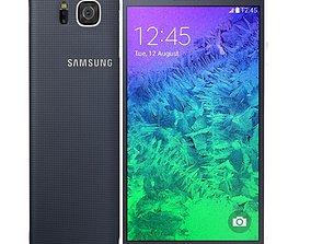Samsung Galaxy Alpha Charcoal Black 3D model