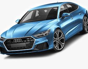 3D Audi A7 Sportback S-line 2018