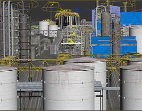 3D model Industrial Refinery - Extensive and complete 1