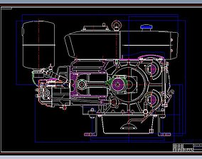 3D model CT1125 4 Stroke Single Cylinder Water Cooled 1