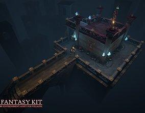 3D model low-poly Dark Fantasy Kit