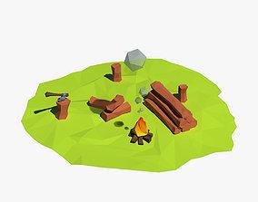 3D model Cartoon logs