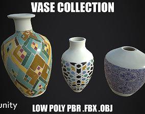 3D asset Low Poly Vases