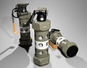 3D asset M84 Stun Grenade