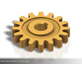 16-Tooth Spur Gear 01 3D printable model